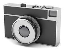Retro-styled photo camera  on white background Royalty Free Stock Photography