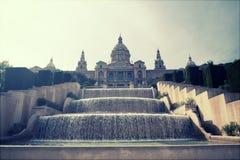 Retro styled photo of The Museu Nacional d'Art de Catalunya, Bar Royalty Free Stock Photos