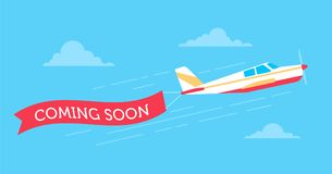 Planes-banners copy Royalty Free Stock Image