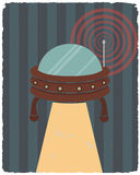 Retro styled  poster. Ufo. Vector illustration. Retro styled  poster. Ufo. Vector illustration Royalty Free Stock Photo