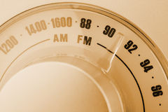 Retro-styled radio tuner dial Royalty Free Stock Photos