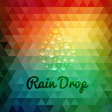 Retro styled rain drop design card Stock Photography