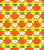 Retro styled red apples seamless pattern Stock Photo