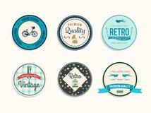 Retro styled retail badges vector Stock Photo