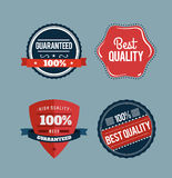 Retro styled retail badges vector Royalty Free Stock Photography