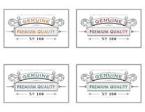 Retro styled retail labels. Template frame label design for various purposes, retro label style, quality verification concept, vector background illustration Stock Images