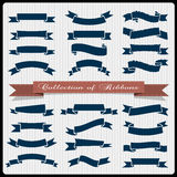 Retro styled ribbons - banners. Vector set Royalty Free Stock Images