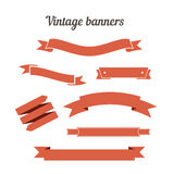 Retro styled ribbons collection. Royalty Free Stock Photo