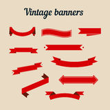 Retro styled ribbons collection. Royalty Free Stock Photography