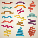 Retro styled ribbons Stock Photos