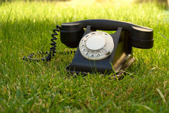 Retro styled rotary telephone Stock Photography
