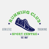 Retro Styled Running Club Label or Emblem Template Royalty Free Stock Image