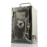 Retro styled safe box with locks Stock Image