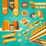 Retro-styled sale set Stock Images