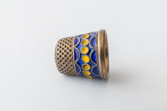 Retro styled sewing thimble, close-up Stock Image