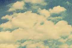 Retro styled sky paper. Texture Stock Image