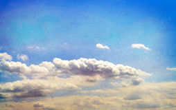 Retro styled sky paper Stock Photography