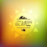 Retro styled summer calligraphic design card Stock Photos