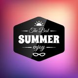 Retro styled summer calligraphic design card Stock Photography