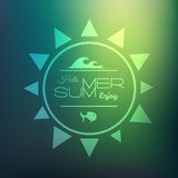 Retro styled summer calligraphic design card Stock Images