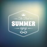 Retro styled summer calligraphic design card Royalty Free Stock Images