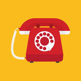 Retro styled telephone Royalty Free Stock Images