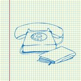 Retro styled telephone Royalty Free Stock Photo
