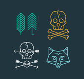 Retro styled trendy  emblems. Stock Photography