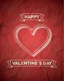 Retro styled Valentines Day card Royalty Free Stock Photo
