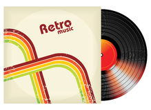 Retro-styled vinyl. In package - illustration vector illustration