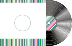 Retro styled vinyl with modern cover Stock Images