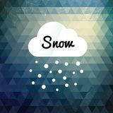 Retro styled winter cloud design card Royalty Free Stock Image