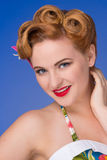 Retro  styled woman with fifties hair and makeup Royalty Free Stock Image