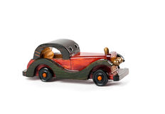 Retro styled wooden car Stock Images