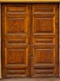 Retro-styled wooden door Stock Photography