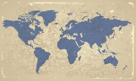 Retro-styled World map stock images