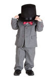 Retro stylish child in suit Stock Images