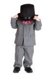 Retro stylish child in suit Stock Images