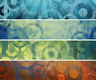 Retro-stylized banners Stock Photography
