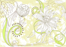 Retro stylized floral background Stock Photography