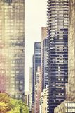 Retro stylized picture of New York buildings, USA Stock Images