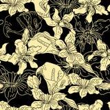 Retro stylized seamless pattern Stock Photo