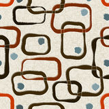 Retro-stylized Square. Seamless Retro-stylized Squares. Tileable, seamless easy-edit layered vector file Stock Image
