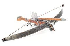 Retro stylized wooden crossbow. On white background Stock Photo