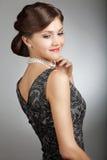 Retro stylized young woman Stock Image