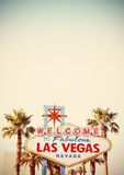Retro stylizowany powitanie Las Vegas znak Zdjęcie Stock