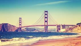 Retro stylowa fotografia Golden Gate Bridge Fotografia Stock