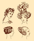 retro stylowa kobieta Obraz Royalty Free
