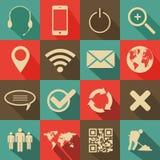 Retro Stylowa sieć i Mobilne ikony royalty ilustracja