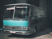 Retro stylowy autobus stonowany Zdjęcia Stock